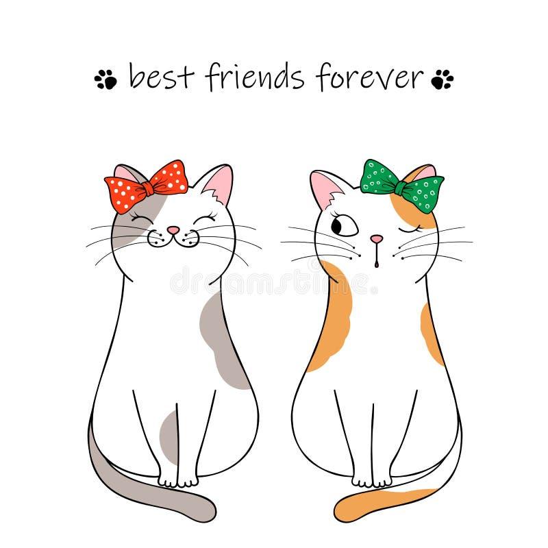 ?liczny kota charakter ilustracji