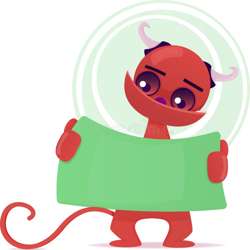Download Śliczny potwór ilustracja wektor. Ilustracja złożonej z doodle - 28974915