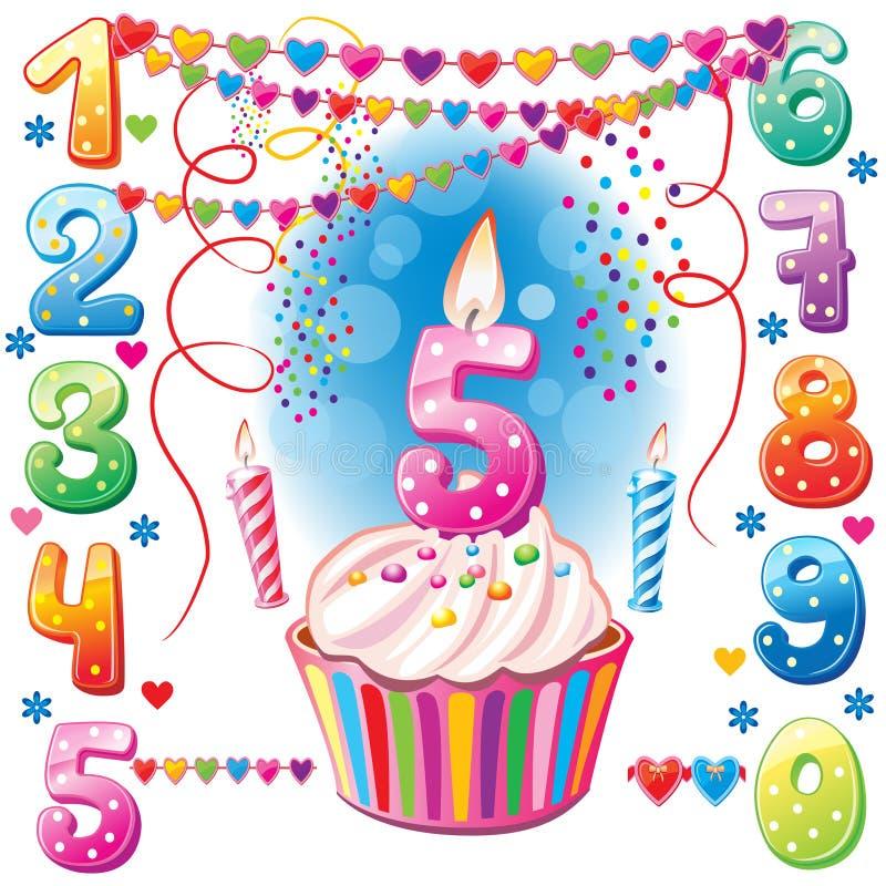 liczyć urodzinowe świeczki ilustracja wektor