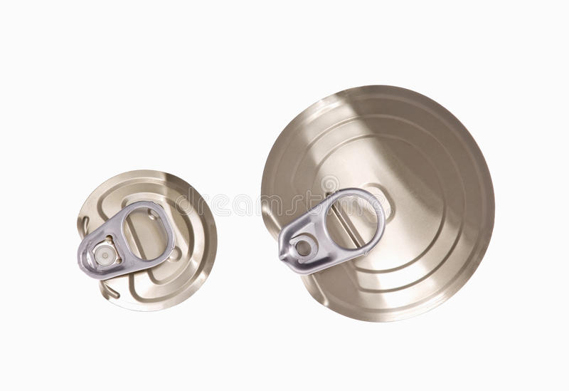 Lid with pull ring royalty free stock images