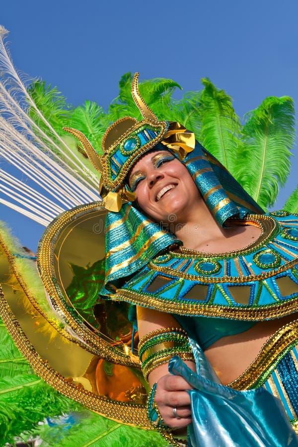 Lid van de Ala sectie van Samba School in stock fotografie