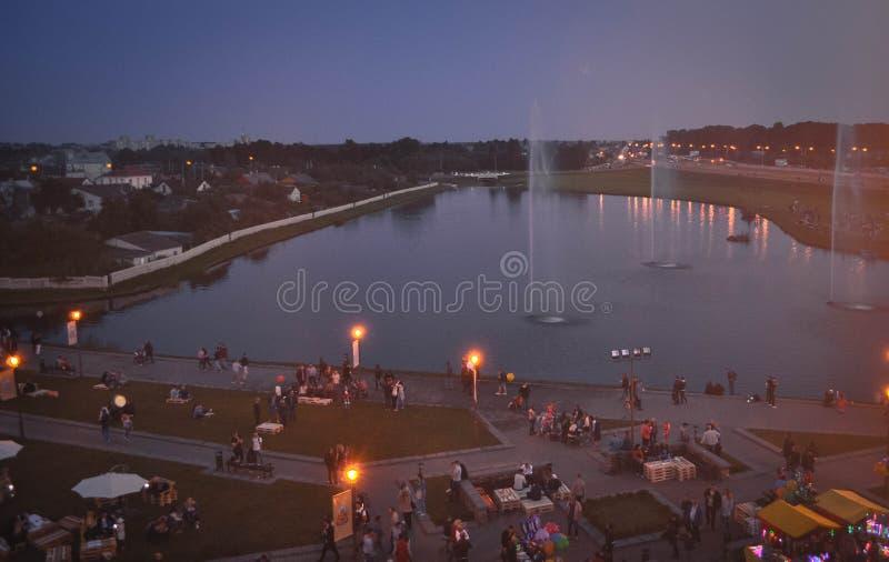 lida belarus Lida Castle Festival della birra immagini stock