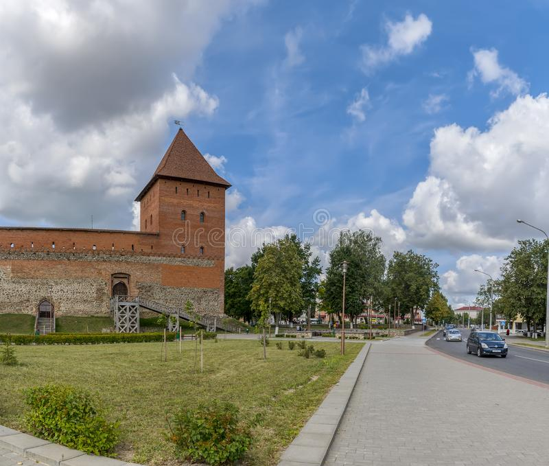 Lida castle, a castle in the Republic of Belarus in Lida, built in 1323 on behalf of Prince Gediminas. The city of Lida. Republic of Belarus 04 August 2019. Lida royalty free stock photography