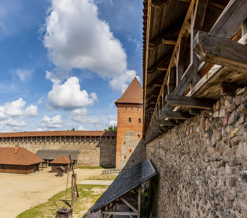 Lida castle, a castle in the Republic of Belarus in Lida, built in 1323 on behalf of Prince Gediminas. The city of Lida. Republic of Belarus 04 August 2019. Lida royalty free stock images