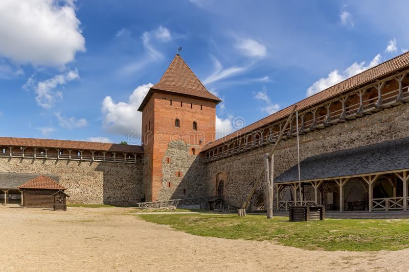 Lida castle, a castle in the Republic of Belarus in Lida, built in 1323 on behalf of Prince Gediminas. The city of Lida. Republic of Belarus 04 August 2019. Lida stock image