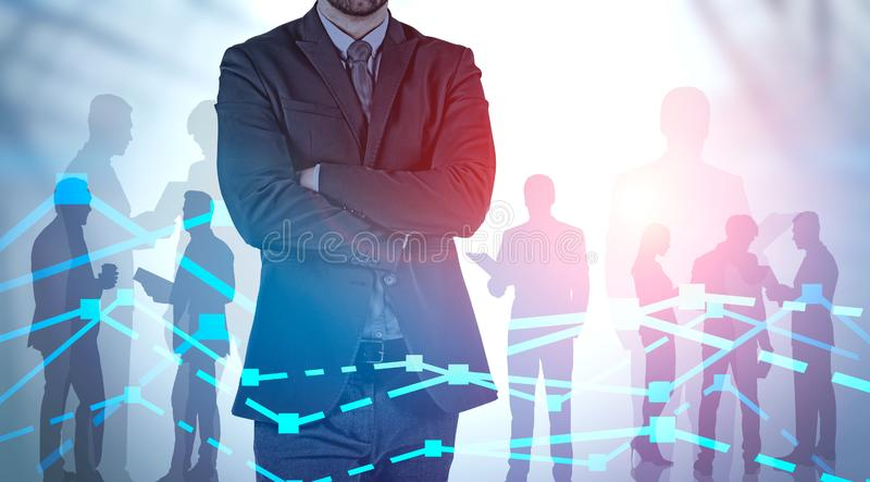 Lider biznesu i dru?yny rynku finansowego analiza obrazy royalty free