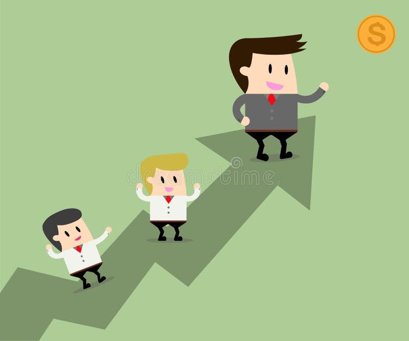 Lider biznesu pomysły i pracę zespołową royalty ilustracja