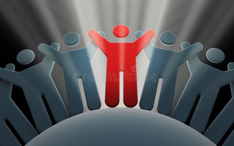 lider drużyn ludzie ilustracja wektor