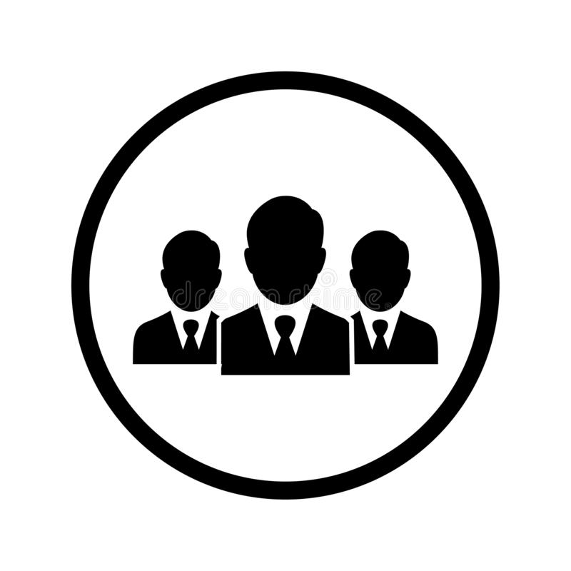 Lider, drużyna, spotkanie ikona/biznesu/ ilustracji