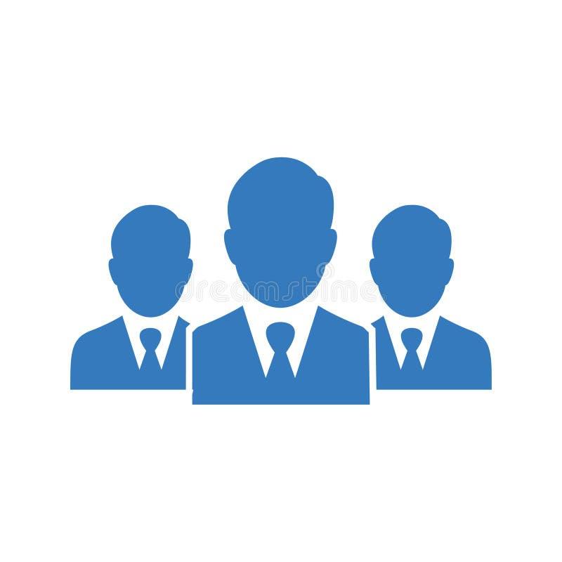 Lider, drużyna, spotkanie ikona/biznesu/ ilustracja wektor