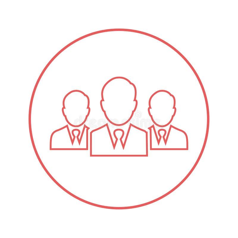Lider, drużyna, spotkanie ikona/biznesu/ royalty ilustracja