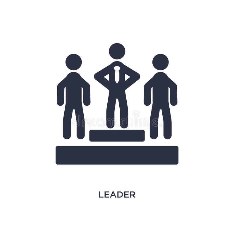 lider ikona na białym tle Prosta element ilustracja od strategii pojęcia ilustracji