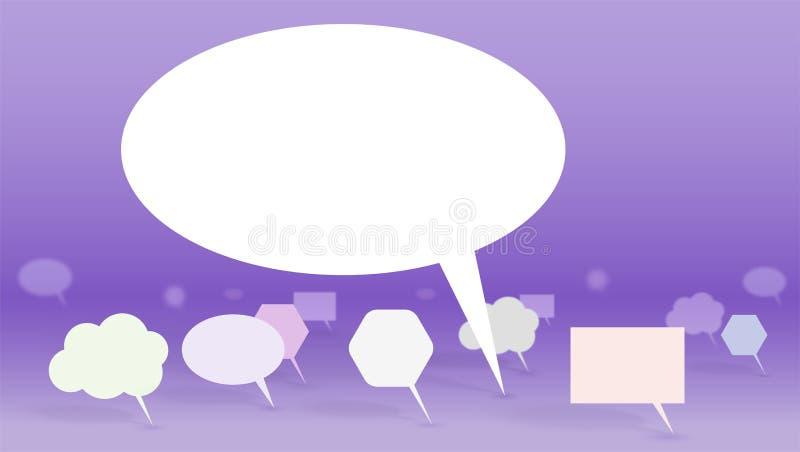 Lider jawna opinia Symbol dyskusja, set abstrakcjonistyczna mowa gulgocze, 3D wektoru ilustracja Pojęcie ilustracja wektor