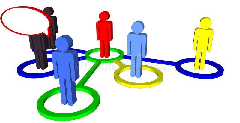 Lider komunikacje biznesowe ilustracja wektor