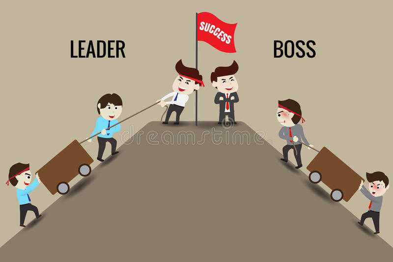 Lider lub szef, szablon ilustracja wektor