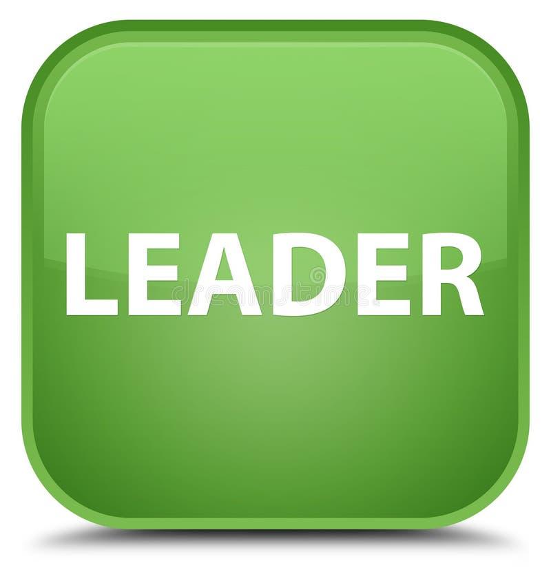 Lider miękkiej części zieleni kwadrata specjalny guzik royalty ilustracja