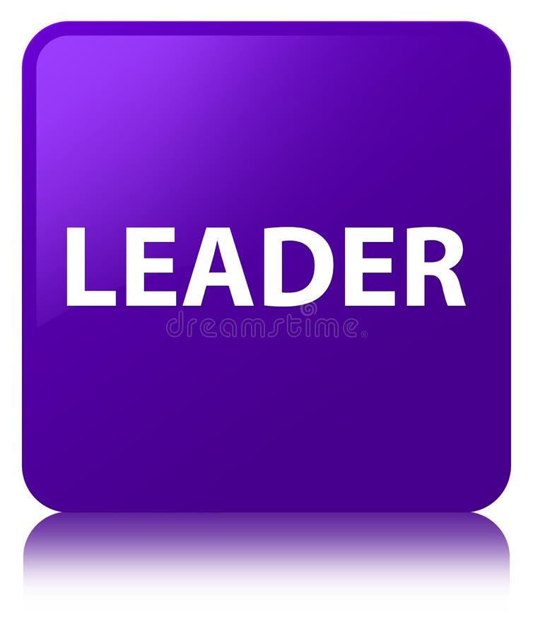 Lider purpur kwadrata guzik ilustracji