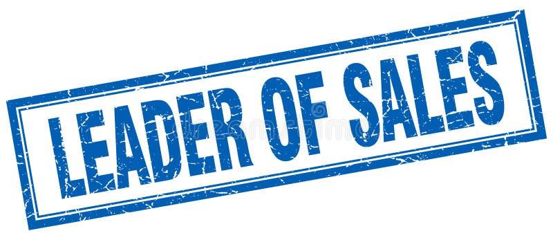 Lider sprzedaż znaczek ilustracji