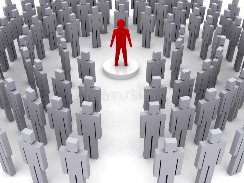 Lider w tłumu. ilustracja wektor