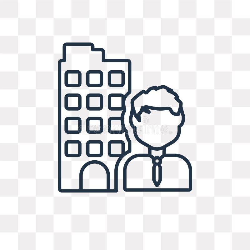 Lider wektorowa ikona odizolowywająca na przejrzystym tle, liniowy Le ilustracja wektor