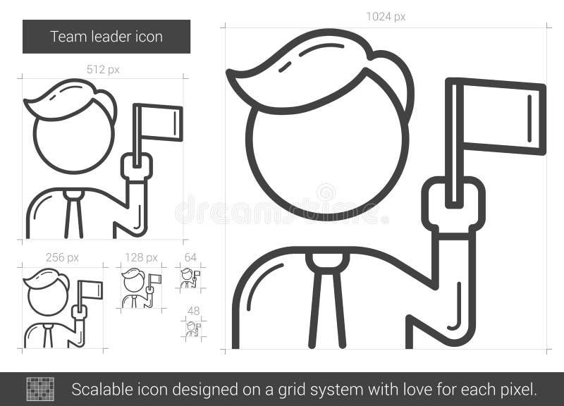 Lider zespołu kreskowa ikona ilustracja wektor