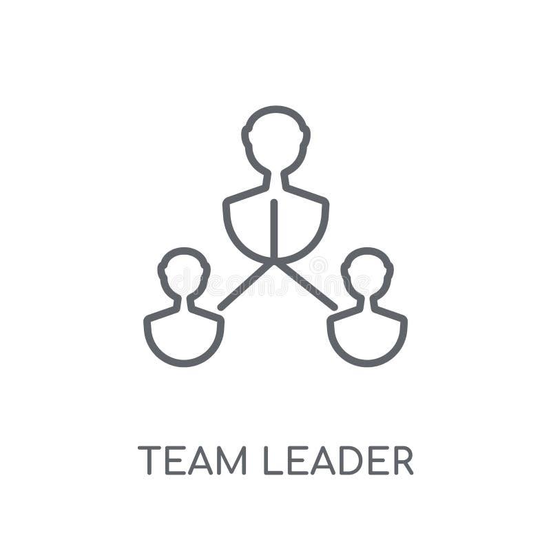 lider zespołu liniowa ikona Nowożytny konturu lider zespołu logo pojęcie royalty ilustracja