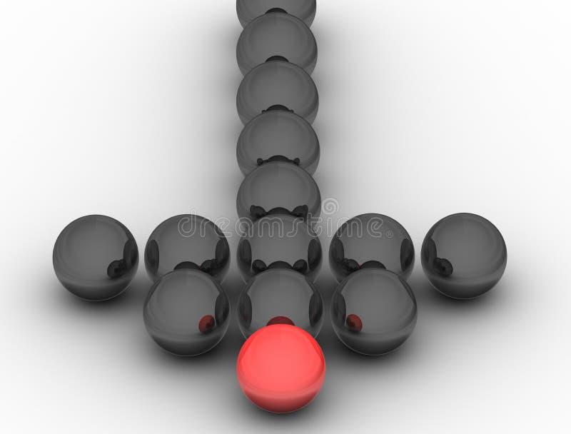 A liderança ilustração do vetor