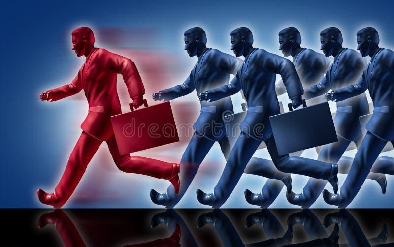 Liderança de vencimento do líder da competição do sucesso ilustração do vetor