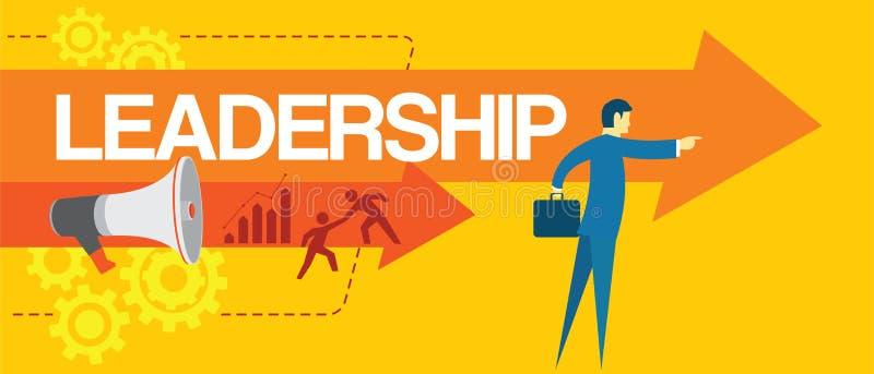 Liderança do líder na equipe do conceito do negócio ilustração stock