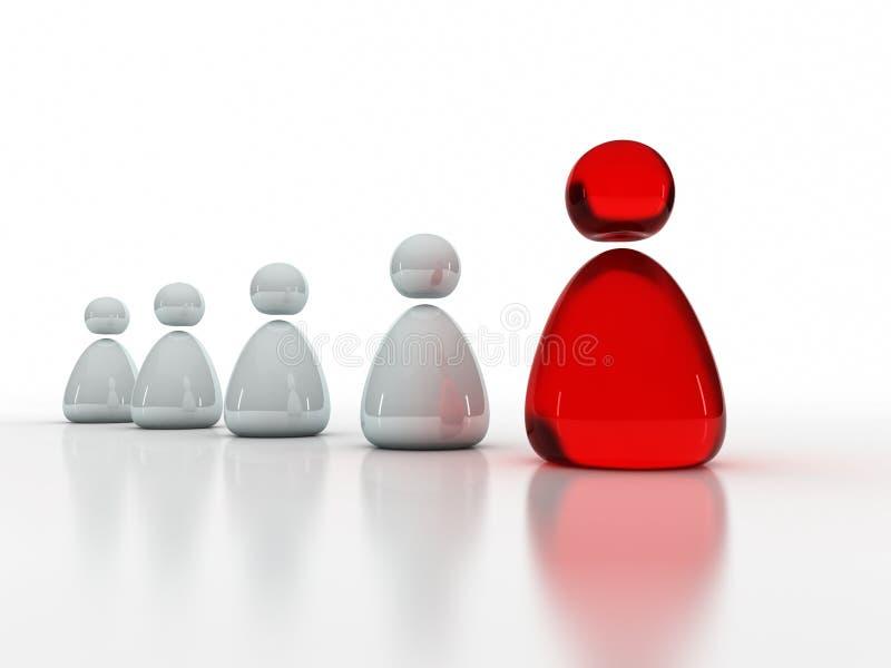 Liderança do negócio e conceito da equipe ilustração do vetor