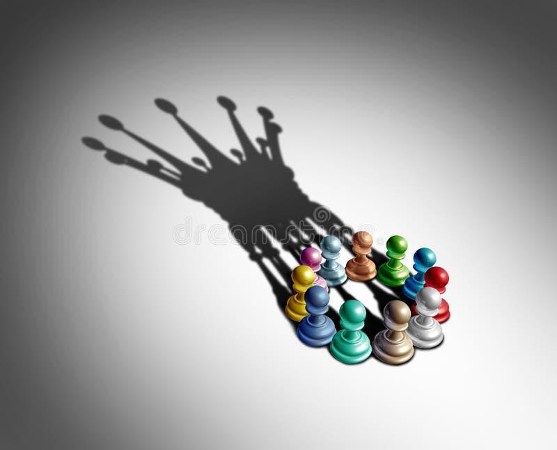 Liderança e diversidade do negócio ilustração do vetor