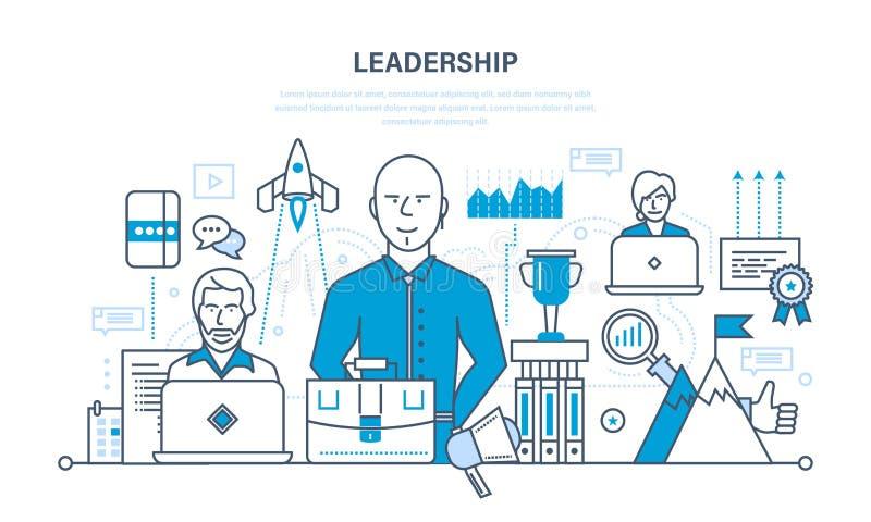 Liderança, habilidades, sucesso da carreira e educação, conseguindo alturas novas ilustração stock