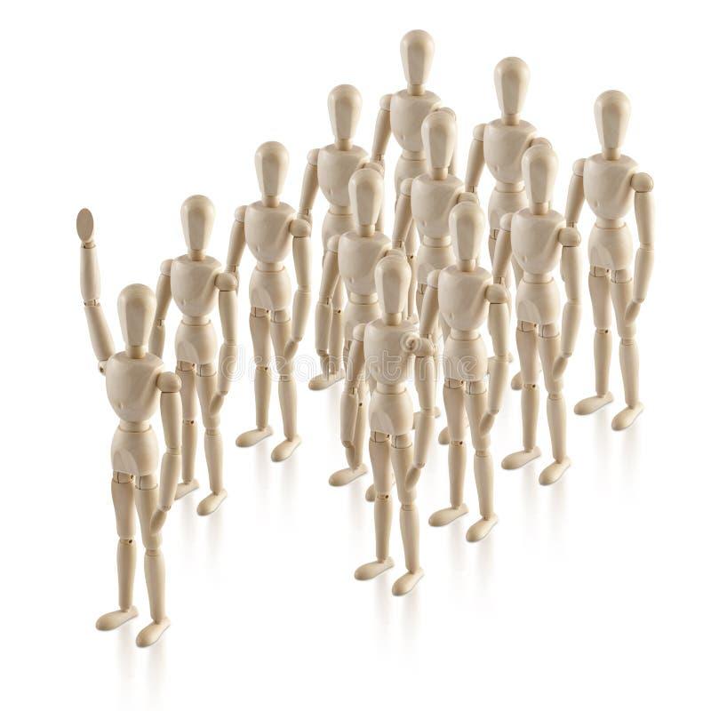 A liderança, headship, pensa fora da caixa, nenhum proeminente 2 imagem de stock