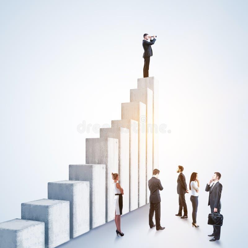 Liderança, pesquisa e conceito do sucesso foto de stock royalty free