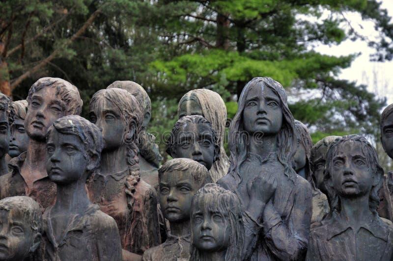 Lidice Denkmal stockfotos