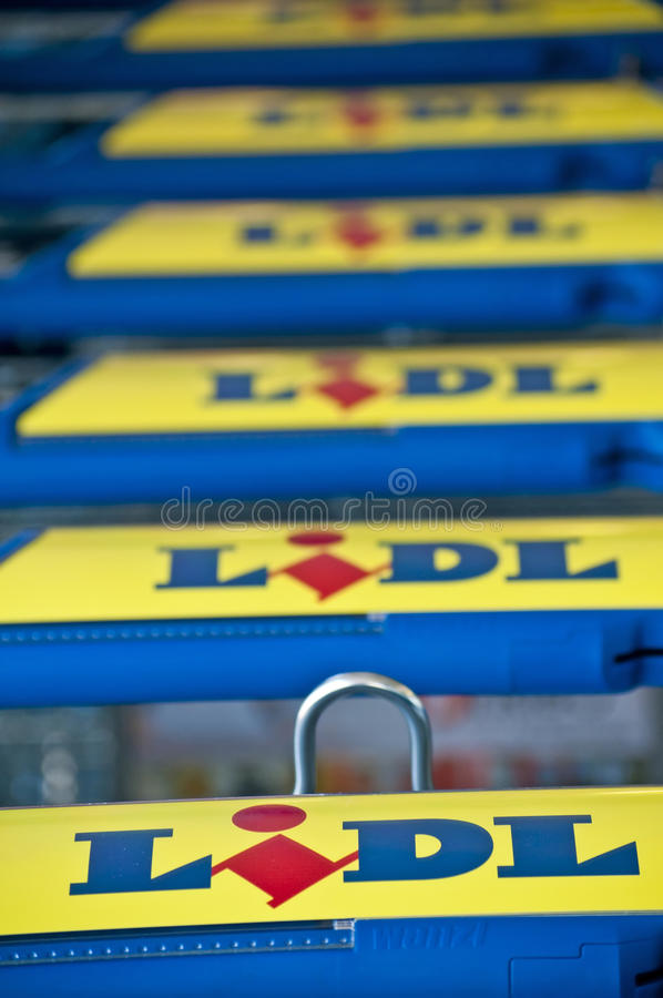 Download LIDL editorial photo. Image of carts, lidl, corporate - 25505006