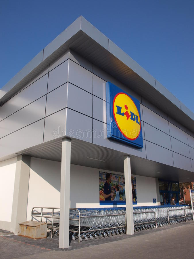 Download Lidl store, Lublin, Poland editorial stock image. Image of carts - 23886134