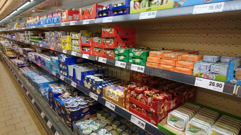LIDL-supermarketinre royaltyfria foton