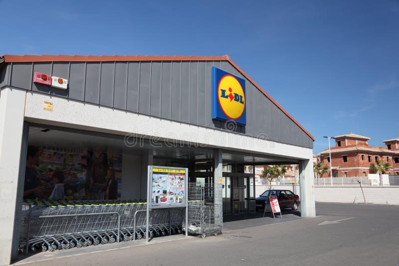lidlsupermarket royaltyfri fotografi