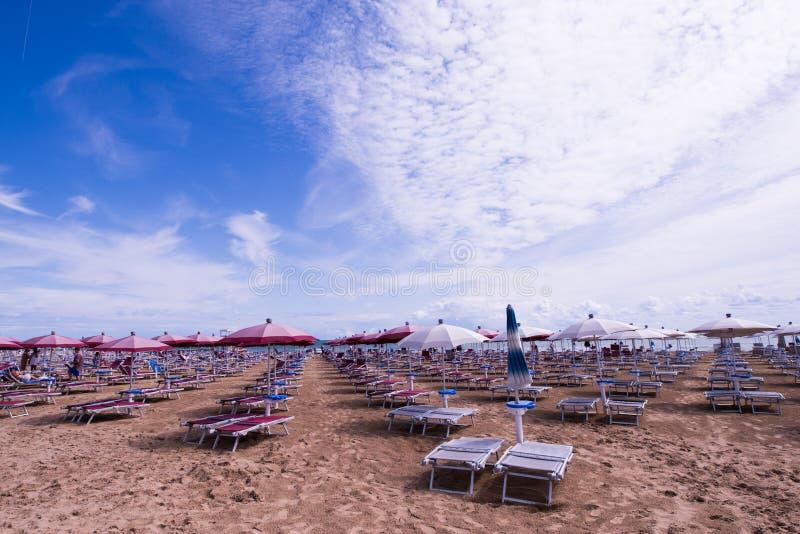 Lido二耶索洛海滩 免版税库存照片