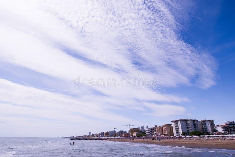 Lido二耶索洛海滩 免版税图库摄影