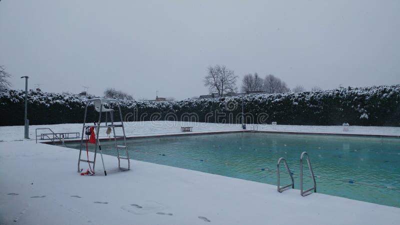 Lido śnieg zdjęcie royalty free
