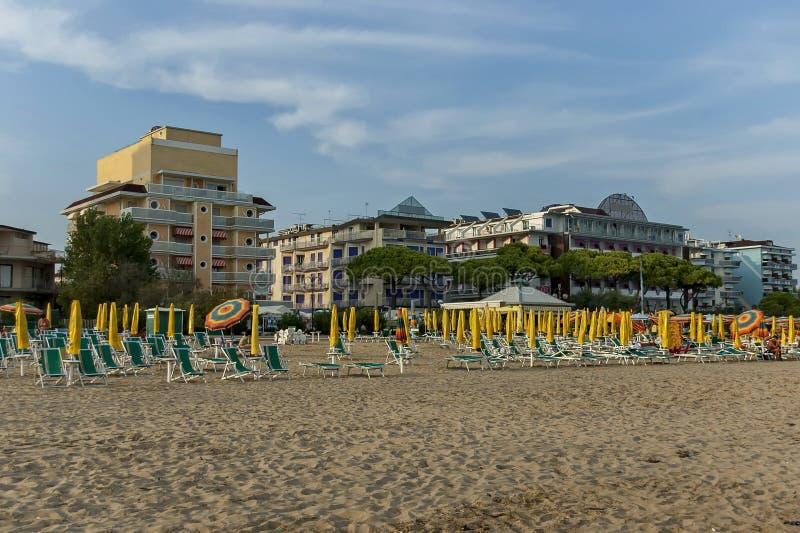 Lido di Jesolo, Mer Adriatique, la Riviera vénitienne photos libres de droits