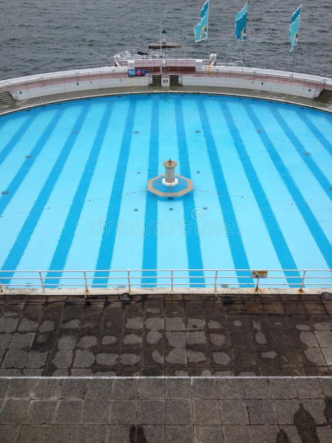 Lido. Plymouth lido in Devon stock photography
