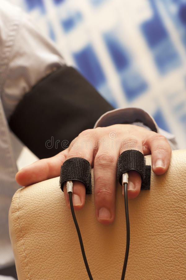 Lie detector stock image