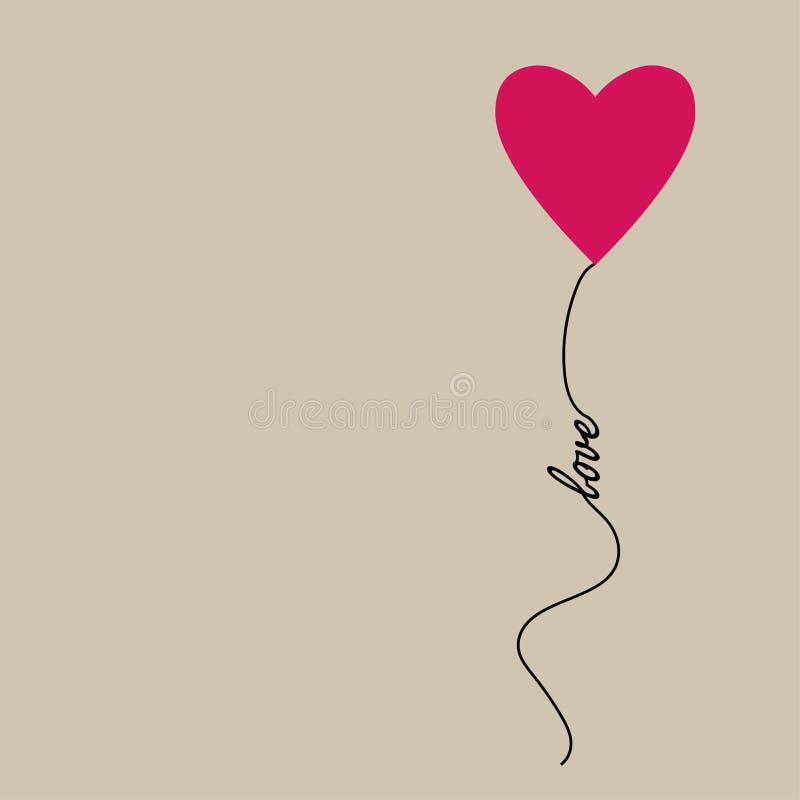 Liebe Auch im corel abgehobenen Betrag vektor abbildung