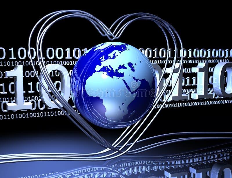 Liebe auf dem Internet stock abbildung
