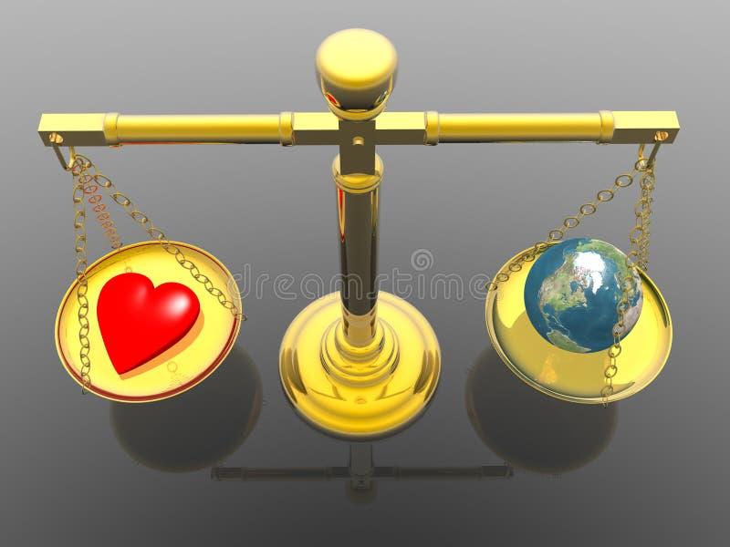 Liebe auf der ganzen Erde stock abbildung