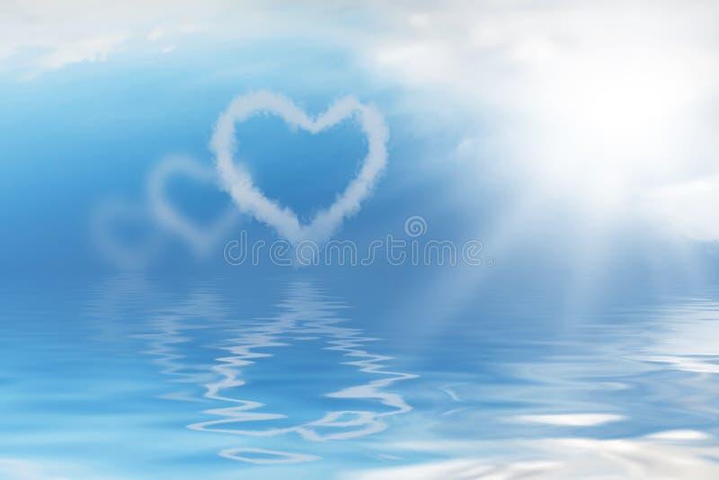 Liebe bewölkt Hintergrund stock abbildung