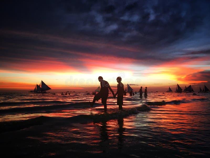 Liebe in Boracay stockbilder